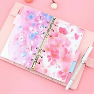 Cherry Blossom Diary Notebook Spiral Dividers Office Stationery Kawaii Accessory
