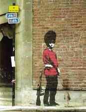 Banksy Guardsman Peeing Wall A3 Sign Aluminium Metal Large