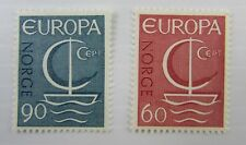 1966 Europa Norway Sc #496-497 Mnh stamps