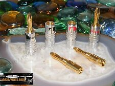2 PAIRES FICHES BANANES NAKAMICHI CONTACT GOLD 24 K HIGH DÉFINITION