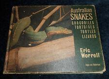 Eric WORRELL :Australian Snakes Crocodiles Tortoises Turtles Lizards | HB 1966