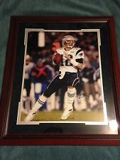 Tom Brady Custom Framed Autographed 16x20 New England Patriots Super Bowl XXXIX