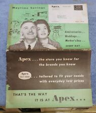 MAY 1960 APEX STORES SALES FLYER / CATALOG / PAWTUCKET R.I./ HOUSEHOLD,TOYS