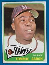 1965 Topps Tommie Aaron Card #567 Centered NM+