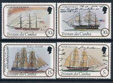 1982 TRISTAN DA CUNHA SHIPS PART I SET OF 4 FINE MINT MNH