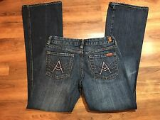 7 FOR ALL MANKIND Pink A Pocket Denim Bootcut Jeans Women's Size 27