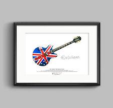 Noel Gallagher's anni '60 EPIPHONE SHERATON poster artistico A3 misura