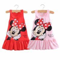 Baby Girls Minnie Mouse Nightie Nightdress Kids Newborn Casual Summer Dresses
