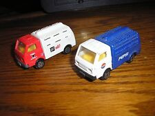 Nice Lot of 2 Maisto Tonka Cab over Delivery Truck Pepsi and Milk
