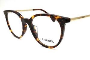 Chanel 3378-B-A 3378 Eyeglasses Havana Gold 1654 Authentic 50mm