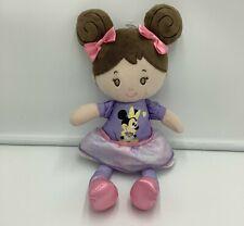 "New listing Disney Baby Cloth Doll Brown Hair Minnie Mouse Plush Crinkle Ears 12"" Stuffed"