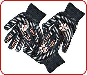 Foot Ball Winter Gripper Black Magic Gloves Unisex one size Wholesale 6,12,36,48