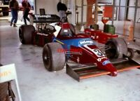 PHOTO  HSCC SILVERSTONE 22.9.90  IAN GILES' 1984 TYRRELL 012 IN THE PITS PRIOR T