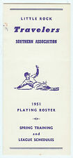 1951 Little Rock Travelers Spring Roster & Schedules (Media Guide)