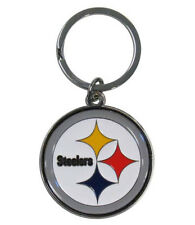 Pittsburgh Steelers Cut-Out Logo Keychain [NEW] NFL Chrome Car Key Chain CDG