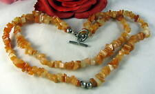 Sterling Silver Red Aventurine Bead Necklace CAT RESCUE