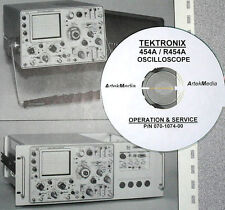 Tektronix 454A / R454A Oscilloscope, Operating + Service + Schematics Manual