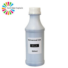 500ml Black Printer Refill to replace Cannon Epson Brother HP ink Bottles