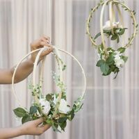 12PCS Wooden Bamboo Dreamcatcher Rings Hoops Round for Dream Catcher Home C I6A6