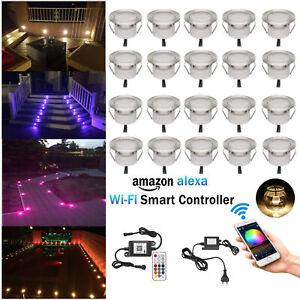 1-50pcs 45mm RGB Smart WIFI Controller Timer Dimmer LED Pool Step Deck Light