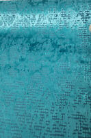 "Woven Velvet Upholstery Fabric By The Yard, 54"" wide, Color Teal"