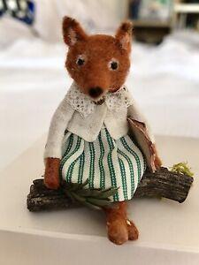 Miniature Handmade Fox by V.LUX Dolls House Animals