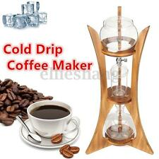 Cold Drip Coffee Maker Ice Dutch Brew Machine Free Filter Paper Serve For 8 Cups