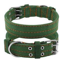 Extra Large PitBull Dog Collar Pet Nylon Collars Studded for Mastiff Husky Lab