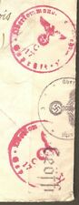 WWII Belgium / Belgique Military Germany Eagle & Swastika Censor Cover to France