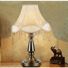 Creative Style Beige E27 Height 46CM Metal+Fabric Bedroom Bedside Table Lamp
