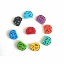 Smiley Face Key Caps Covers Pack of 8 Assorted Colours