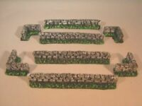 UNPainted 10x brixkwalls for wargames scenery and building terrain.  10mm, 15mm
