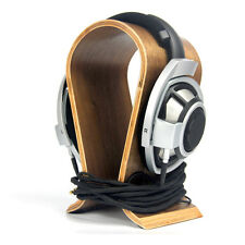U-shaped Solid Wood Headset Earphone Headphone Stand Hanger Holder Display Rack
