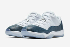 214f10a40fdd 2019 AIR JORDAN 11 RETRO LOW SNAKESKIN WHITE BLACK-NAVY BLUE CD6846-102