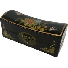 Black Oriental Hand Painted Classical Jewelry Box (PS-M8B)