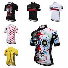 Herren Radtrikot Skull Bekleidung Fahrrad Kurz Sommer Fahrrad T-Shirt Jersey Top