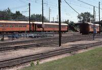 CSS&SB Railroad Locomotive MICHIGAN CITY IN Yards Original 1976 Photo Slide