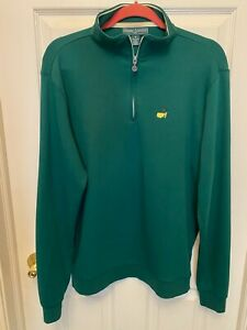 Masters Augusta National Half Zip Green Pullover Men's Size Small