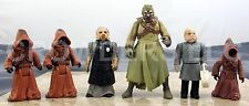 "Star Wars PotF Tusken Raider 2 Large 1 Small Jawas & Ugnaughts x 2 3.75"" Figures"