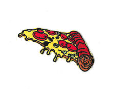 PIZZA SLICE Iron on / Sew on Patch Embroidered Badge Motif Food PT343