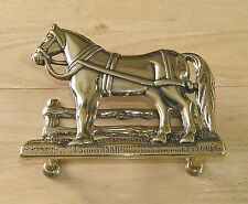 Letter Rack Horse and Gate design in Italian polished cast brass