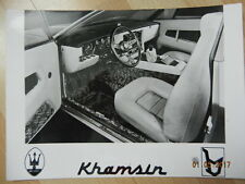 Photo de presse MASERATI KHAMSIN