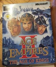 AGE OF EMPIRES II THE AGE OF KINGS PC CD ROM ORIGINAL AOE 2 BIG BOX RARE