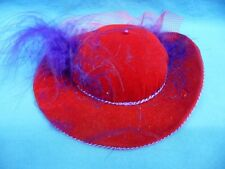 """Vintage Dritz 1998 Collectible Novelty Pin Cushion 5.5"""" Red Hat Society"""
