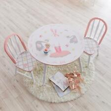 Fantasy Fields Childrens Swan Lake Kids Wooden Table and Chair Set Td-12718set
