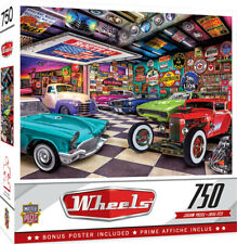 Masterpieces Wheels COLLECTOR'S GARAGE 750 piece jigsaw puzzle NEW IN BOX