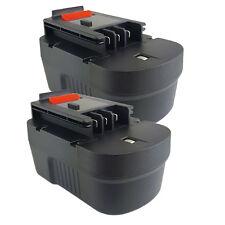 2x Replacement Black & Decker 14.4 Volt Battery Pack Kit (HPB14-2)