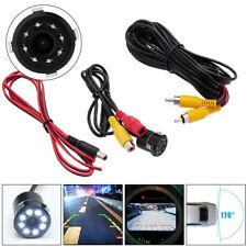Car Reversing Rear View IR Camera Parking Backup Night Vision 8LED Waterproof HD
