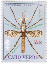 Cabo Verde Islands Fauna Insects Mosquito Malaria stamp 1960 MLH