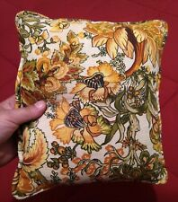 Small Vintage Collectible Decorative Floral Throw Pillow Used Linens & Textiles
